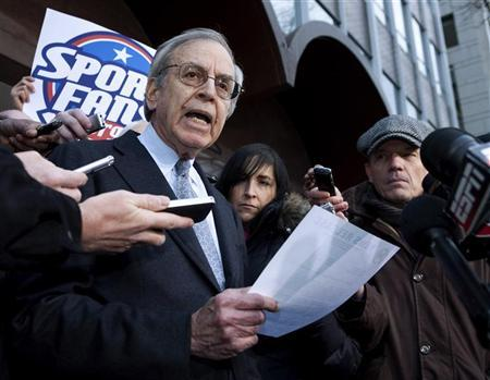 George H. Cohen, director of the Federal Mediation and Conciliation Service, makes a statement after negotiations collapsed between the National Football League (NFL) and National Football League Players' Association (NFLPA) in Washington March 11, 2011. REUTERS/Joshua Roberts