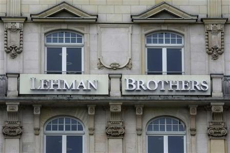 The Frankfurt branch of the Lehman Brothers bank is pictured in Frankfurt September 15, 2008. REUTERS/Alex Grimm