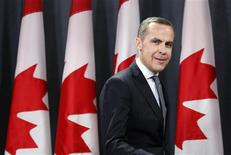 Управляющий Банком Канады Марк Карни на пресс-конференции в Оттаве 26 ноября 2012 года. Великобритания сделала неожиданный выбор в пользу иностранца, назначив главой Банка Англии управляющего Канадским центробанком Марка Карни, в надежде на проведение им реформ и укрепление финансовой системы страны. REUTERS/Chris Wattie