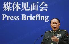 Ministro da Defesa da China Liang Guanglie afirmou que crescimento do exército do país não representa nenhuma ameaça. 18/09/2012 REUTERS/Larry Downing