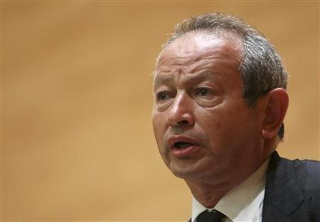 Orascom Telecom chairman Naguib Sawiris speaks during a conference in Beirut June 2, 2010. Picture taken June 2, 2010. REUTERS/Cynthia Karam