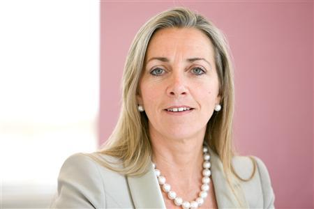 Rona Fairhead is seen in an undated publicity photo. Fairhead, chief executive of Pearson's Financial Times Group, is to stand down from the newspaper group next April, she announced on Tuesday. REUTERS
