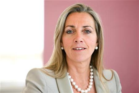 Rona Fairhead, chief executive of Pearson's Financial Times Group is seen in this undated handout photograph released in London November 27, 2012. Fairhead, is to stand down from the pink-paged newspaper group next April, she announced on Tuesday. REUTERS/Pearson/Handout