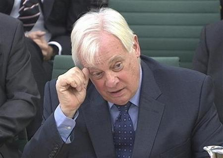 BBC Trust chairman Chris Patten appears before the Commons Culture, Media and Sport Committee as part of its examination into the BBC's response to the Jimmy Savile disclosures, in London November 27, 2012. REUTERS/UK Parliament