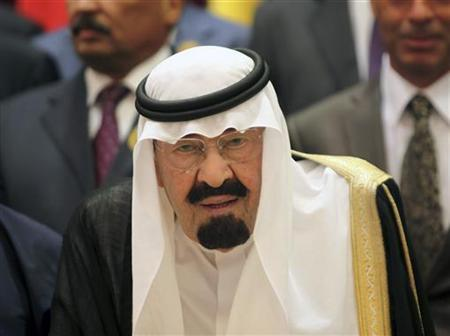 Saudi Arabia's King Abdullah arrives at the the opening ceremony of the Organisation of Islamic Conference (OIC) summit in Mecca August 14, 2012. REUTERS/Susan Baaghil/Files