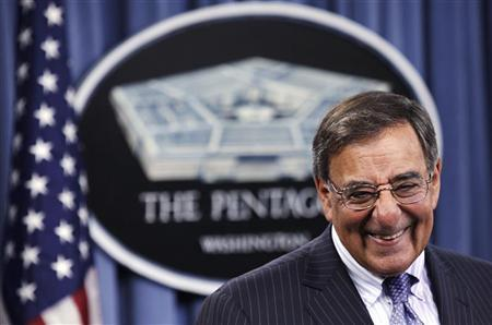 U.S. Defense Secretary Leon Panetta attends a joint news conference with Japan's Defense Minister Satoshi Morimoto (not pictured) after their meeting at the Pentagon in Washington, August 3, 2012. REUTERS/Yuri Gripas