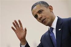 Presidente norte-americano Barack Obama lançou ofensiva para cobrar mais impostos dos ricos, enquanto Congresso permanece em impasse. 20/11/2012 REUTERS/Damir Sagolj