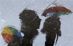 Maltempo, allerta in Toscana, a Massa esondati due torrenti. REUTERS/Alessandro Bianchi
