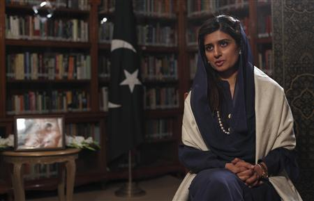 Pakistan's Foreign Minister Hina Rabbani Khar speaks during an interview with Reuters at the foreign ministry in Islamabad November 28, 2012. REUTERS/Mian Khursheed