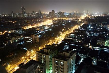 An aerial view of a central district of Mumbai December 22, 2006. REUTERS/Arko Datta/Files