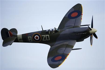File photo of a Second World War-era Supermarine Spitfire from the Old Flying Machine Company, with British Royal Air Force markings, performing during the Malta Airshow at Malta International Airport outside Valletta September 29, 2012. REUTERS/Darrin Zammit Lupi/Files.