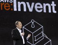 Amazon Senior Vice President Andy Jassy speaks during a keynote speech at the Re:Invent conference in Las Vegas, Nevada November 28, 2012. REUTERS/Richard Brian