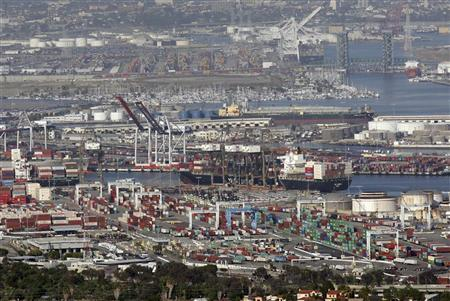 The Port of Los Angeles is seen in this general view taken in California May 30, 2012. REUTERS/David McNew