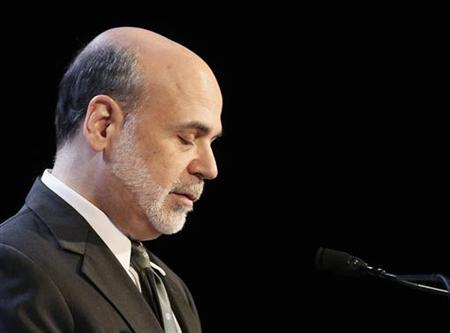 U.S. Federal Reserve Chairman Ben Bernanke speaks to the Economic Club of New York in New York, November 20, 2012. REUTERS/Brendan McDermid