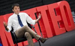 Il sindaco di Firenze e candidato alle primarie del centrosinistra Matteo Renzi. REUTERS/Giorgio Perottino