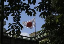 La bandiera del Giappone. REUTERS/Toru Hanai