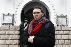 "Ludovic-Mohamed Zahed, a French-Algerian homosexual Muslim, poses in front of Paris Mosque November 23, 2012. Zahed, who heads the ""Homosexual Muslims of France"" association, is the initiative behind Europe's first gay and lesbian-friendly mosque which is due to open next month in an eastern Paris suburb, in a challenge to a tradition of discomfort in mainstream Islam with same-sex relationships. REUTERS/Charles Platiau"