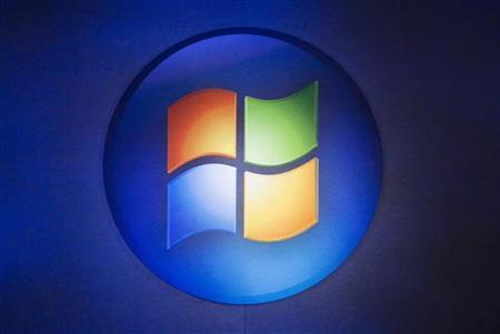 A Windows logo is seen in Toronto, October 21, 2009. REUTERS/Mark Blinch/Files