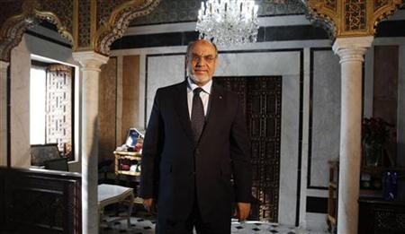 Tunisia's Prime Minister Hamadi Jebali arrives for an interview at the Reuters Middle East Investment Summit in Tunis November 20, 2012. REUTERS/Zoubeir Souissi