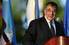 U.S. Secretary of Defense Leon Panetta speaks during a change of command ceremony at the United States Southern Command in Doral, Florida, November 19, 2012. REUTERS/Rhona Wise