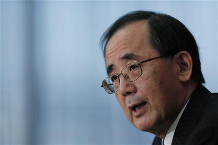 Bank of Japan Governor Masaaki Shirakawa speaks during a news conference in Tokyo, in this file photo taken November 20, 2012. REUTERS/Yuriko Nakao/Files