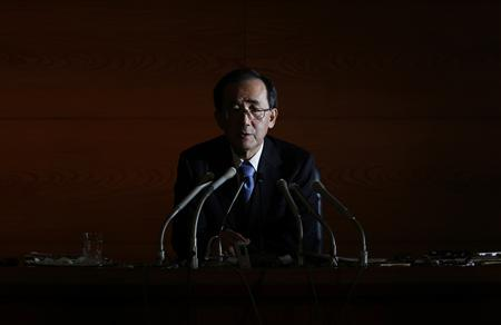 Bank of Japan Governor Masaaki Shirakawa speaks during a news conference in Tokyo, in this file photo taken November 20, 2012. REUTERS-Yuriko Nakao-Files