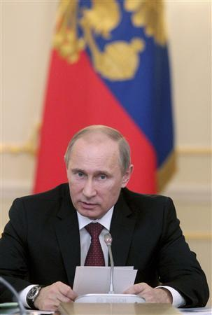 Russia's President Vladimir Putin chairs a session of the State Council's Presidium at the Novo-Ogaryovo residence outside Moscow November 29, 2012. REUTERS/Mikhail Klimentyev/RIA Novosti/Pool