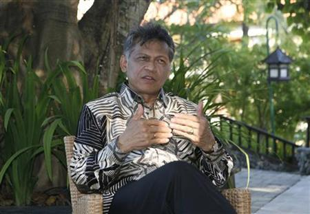 ASEAN Secretary General Surin Pitsuwan speaks during an interview in Nusa Dua in Indonesia's resort island of Bali July 20, 2011. REUTERS/Murdani Usman/Files