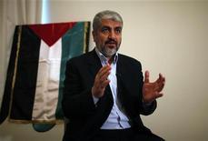 Líder do Hamas, Khaled Meshaal, durante entrevista à Reuters, em Doha. 29/11/2012 REUTERS/Ahmed Jadallah
