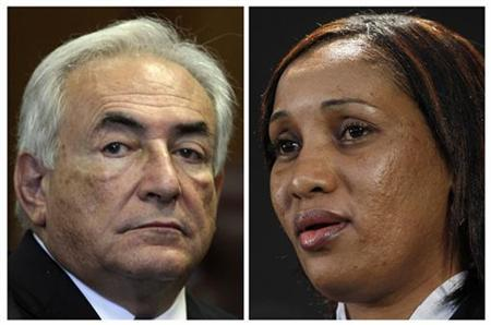 Former International Monetary Fund (IMF) Chief Dominique Strauss-Kahn (L) and Nafissatou Diallo are seen in this combination photo. REUTERS/Todd Heisler/Pool (L) and Shannon Stapleton (R)
