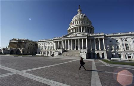 The U.S. Capitol Dome is seen on Capitol Hill in Washington, November 9, 2012. To the left is the U.S. House of Representatives. REUTERS/Larry Downing