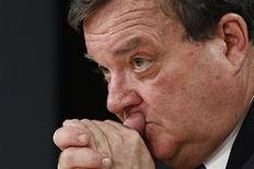 Canada's Finance Minister Jim Flaherty takes part in a news conference with Bank of Canada Governor Mark Carney (not pictured) in Ottawa November 26, 2012. REUTERS/Chris Wattie