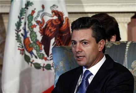 Mexico's President-elect Enrique Pena Nieto takes part in a meeting with Canada's Governor General David Johnston (not pictured) at Rideau Hall in Ottawa November 28, 2012. REUTERS/Chris Wattie