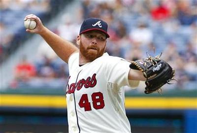 Braves swap starter Hanson for Angels reliever Walden