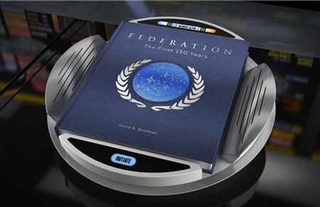 "The new book by television writer David A. Goodman titled ""Star Trek Federation - The First 150 Years"" is pictured in this undated handout photograph released to Reuters November 29, 2012, REUTERS/CBS Studios Inc/Handout"