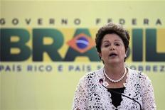 A presidente Dilma Rousseff discursa durante evento em Brasília, na quinta-feira. 29/11/2012 REUTERS/Ueslei Marcelino