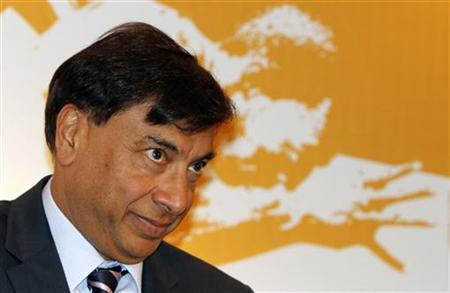 Lakshmi Mittal, chairman and CEO of ArcelorMittal and a Goldman director since 2008, listens to a question during a news conference in New Delhi March 31, 2012. REUTERS/B Mathur/Files