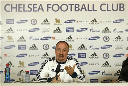 Chelsea's interim head coach Rafael Benitez attends a media conference at their training ground in Cobham, south of London November 27, 2012. REUTERS/Eddie Keogh