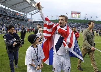 Beckham ends American adventure with second title