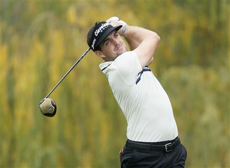 Keegan Bradley of the U.S. tees off on the fifth hole during the third round of the World Challenge golf tournament in Thousand Oaks, California, December 1, 2012. REUTERS/Lucy Nicholson