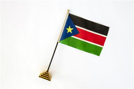 A South Sudan flag is seen in this photo illustration taken in Juba November 17, 2012. Picture taken November 17, 2012. REUTERS/Adriane Ohanesian