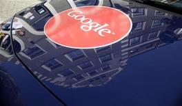 A Google logo is pictured on a Street View car in Riga August 26, 2011. REUTERS/Ints Kalnins