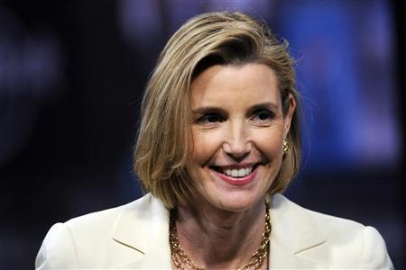 Sallie Krawcheck, former head of Bank of America's wealth and asset management division, speaks during an interview in New York, June 11, 2012. REUTERS/Keith Bedford