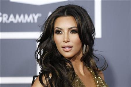 Television personality Kim Kardashian arrives at the 53rd annual Grammy Awards in Los Angeles, California February 13, 2011. REUTERS/Danny Moloshok/Files