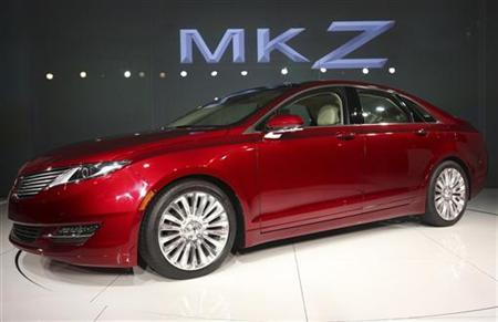 The 2013 Lincoln MKZ automobile is seen during a news conference in New York, April 2, 2012. REUTERS/Shannon Stapleton