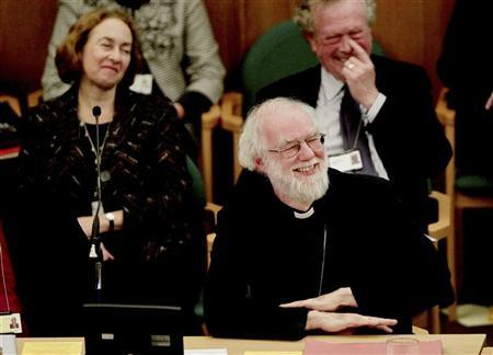 Rowan Williams, the outgoing Archbishop of Canterbury, smiles during a meeting of the General Synod of the Church of England, at Church House in central London November 21, 2012. REUTERS/Yui Mok/POOL