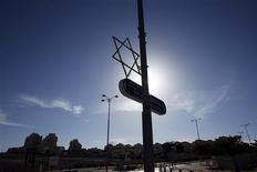 A Star of David decorates a lamp post in the West Bank Jewish settlement of Maale Adumim, near Jerusalem December 2, 2012. REUTERS/Baz Ratner