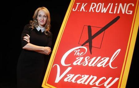 Author J.K. Rowling poses for a portrait while publicizing her adult fiction book ''The Casual Vacancy'' at Lincoln Center in New York October 16, 2012. REUTERS/Carlo Allegri/Files