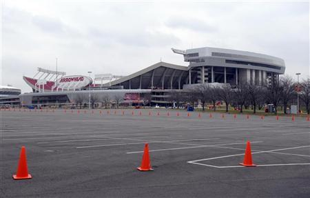 Kansas City Chiefs Arrowhead Stadium is seen following an apparent murder-suicide involving Chiefs' linebacker Jovan Belcher in Kansas City Missouri December 1, 2012. REUTERS/Dave Kaup