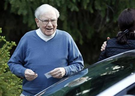 Berkshire Hathaway CEO Warren Buffett attends the Allen & Co Media Conference in Sun Valley, Idaho July 12, 2012. REUTERS/Jim Urquhart